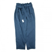 organdy stripe paper bag waist pants