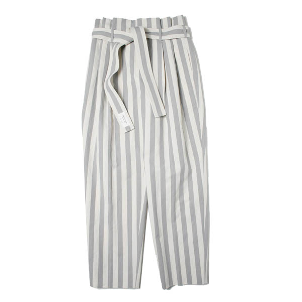 cotton linen paper bag waist pants