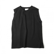 SLEEVELESS KNIT T-SHIRT -EXTRA LONG STAPLE COTTON-