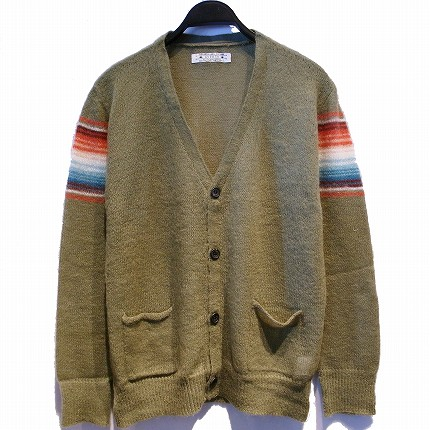 NATIVE BORDER MOHAIR KNIT CARDIGAN