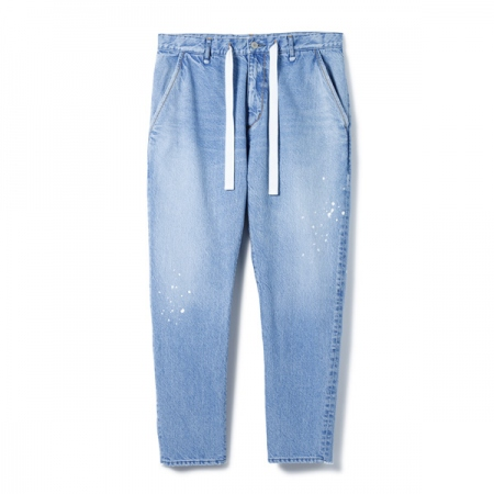 Easy Denim Pants - Damaged Easy Fit Tapered