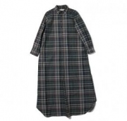 s/c check maxi shirts dress