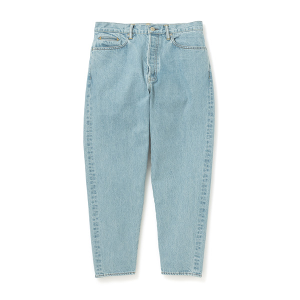 Ice Wash Denim Pants - Easy Fit Tapered