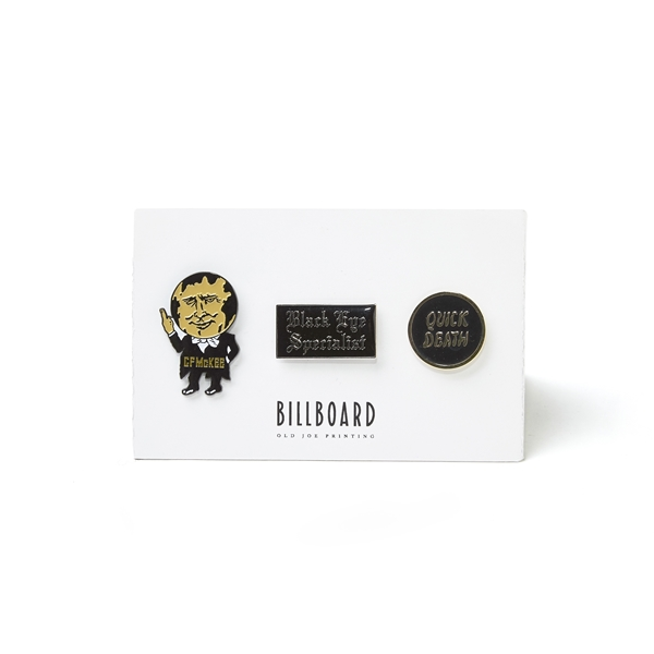 BILLBOARD PIN BADGE SET