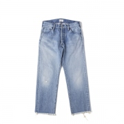 WASHED TAPERD JEANS