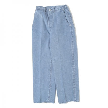 Straight Fit Creased Jeans Ozone Wash