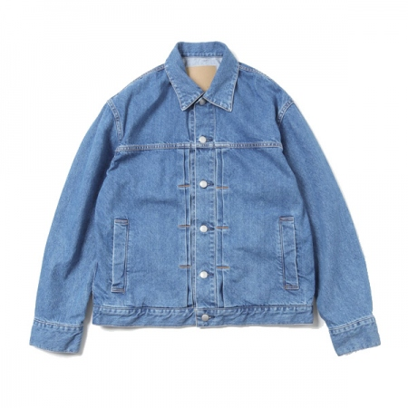 Denim Blouson -bleach-
