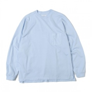 POCKET TEE L/S COMED COTTON