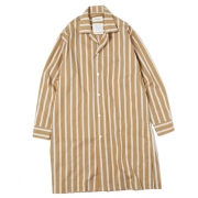 LONG SHIRTS COAT DOBBY STRIPE