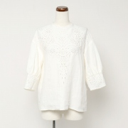 cutwork embroidary vintage pull over