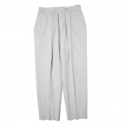 WIDE TAPERED SLACKS(COTTON LINEN)