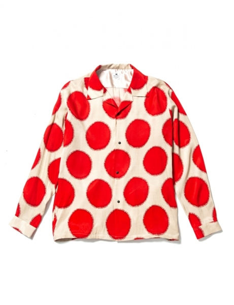 SUN DOTS OPEN COLLAR L/S SHIRT