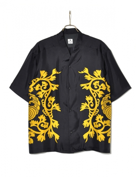 WA-NECK SILK H/S SHIRT