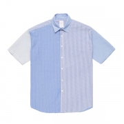 S/S MIXED STRIPE MODERN SHIRT