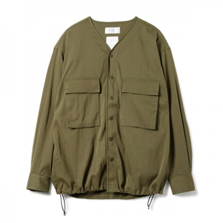 Millitary Drawstring Stretch Shirt