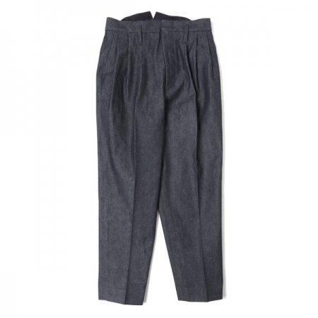3 TUCKED SLACKS(INDIGO)