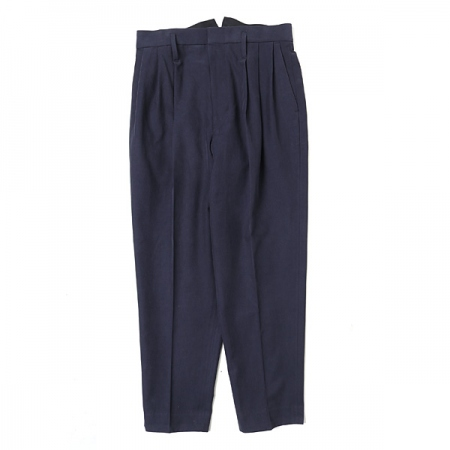 3 TUCKED SLACKS(NAVY)