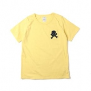 WMV BASIC POCKET TEE S/S SKULL APPLIQUE W