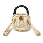 Raffia monster bag