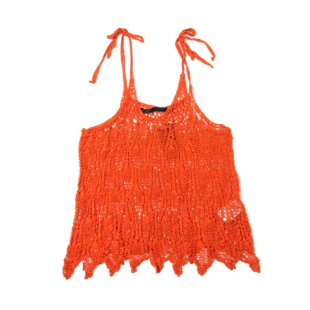 Crochet knit cami