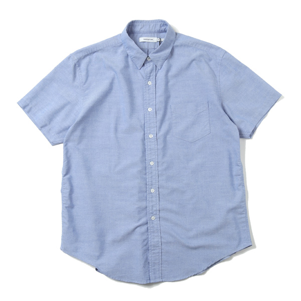 DWL B.D. S/S SHIRT RELAXED FIT P/C OXFORD COOLMAX
