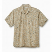 DELTA PATTERN OPEN COLLAR S/S SHIRT