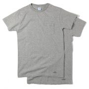 VELVA SHEEN 2PACK T-SHIRTS / GRAY ・ NAVY