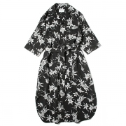 cattleya rayon print long shirt dress