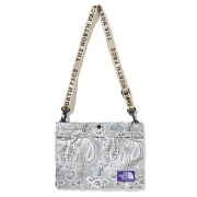 Paisley Print Logo Tape Lightweight Shoulder Bag