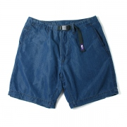 Indigo Typewriter Cloth Mountain Wind Shorts