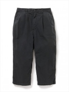 CLERK SHIN CUT TROUSERS /F CT POPLIN OVERDYED