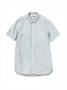 DWELLER B.D. SHIRT S/S COTTON POPLIN OVERDYED