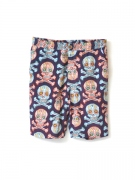 FANCY SKULL ALOHA PANTS