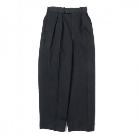 DOUBLE PLEATED TROUSERS HEMP ORGANIC COTTON DRILL