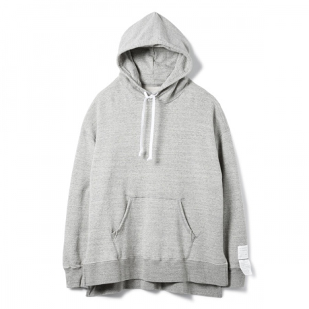 Side Slit Hooded Sweatshirt