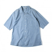 OPEN COLLAR SHIRTS S/S ORGANIC COTTON CHAMBRAY