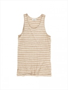 DWELLER TANK TOP COTTON JERSEY BORDER