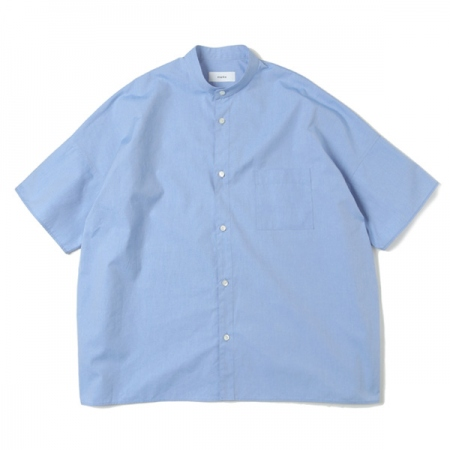 WIDE FIT BAND COLLAR SHIRT