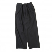 COTTON TWILL Wide Tuck Cook Pants