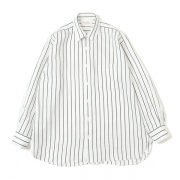 COMFORT FIT SHIRTS ORGANIC LINEN PRINTED STRIPE