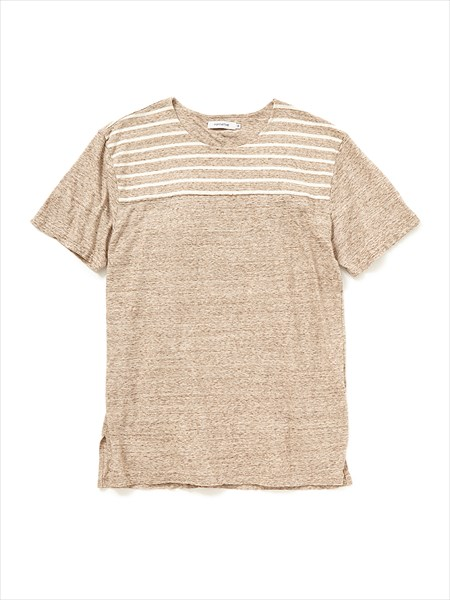 COACH TEE S/S COTTON JERSEY BORDER