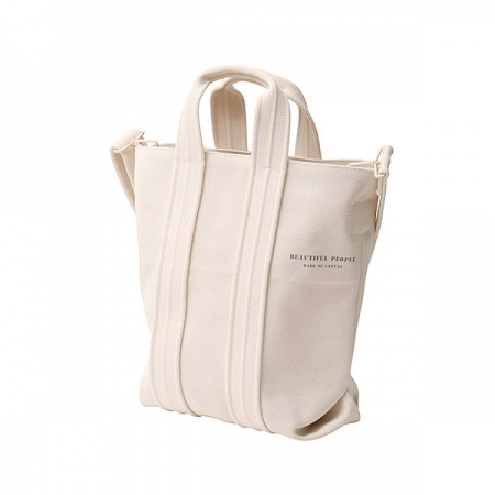 thick canvas 3 lane tape shoulder bag