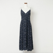 firming silk print camisole dress
