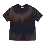 CLERK S/S TEE COTTON JERSEY HEAVY WEIGHT BORDER