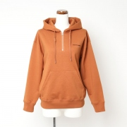 suvin pima sweat zip parka