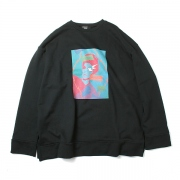 BURNNING GRAPHIC PRINT SWEAT SHIRT