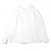 COTTON POPELINE BOWKNOT BACK SHIRT