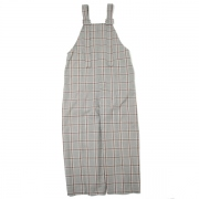 PLAID WIDE LEG DUNGAREE