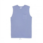 Overdyed Vintage Easy Fit Sleeveless Pocket Tee