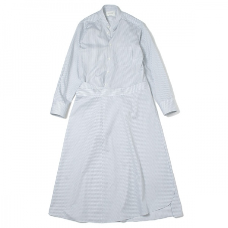 c.stripe 2in1 shirt wrap dress